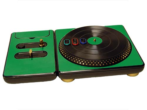 DJ Hero for the PS2, PS3, and 360 Skin :: Green Chrome