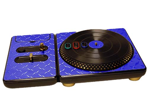 DJ Hero for the PS2, PS3, and 360 Skin :: Diamond Plate Blue