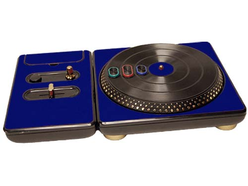 DJ Hero for the PS2, PS3, and 360 Skin :: Cobalt Blue
