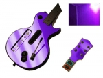 Guitar Hero 3 Les Paul Guitar for the Nintendo Wii Skin :: Purple Chrome