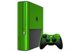 Microsoft Xbox 360 (3rd Gen) Skin :: Lime Green Chrome