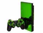 Sony PlayStation 2 Slim Skin :: Lime Green Chrome