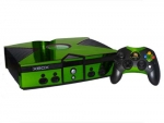 Microsoft Xbox Skin :: Lime Green Chrome
