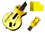 Guitar Hero 3 Les Paul Guitar for the Nintendo Wii Skin :: Yellow Chrome
