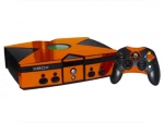 Microsoft Xbox Skin :: Orange Chrome
