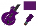 Guitar Hero 3 Les Paul Guitar for the Nintendo Wii Skin :: Purple