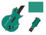 Guitar Hero 3 Les Paul Guitar for the Nintendo Wii Skin :: Turquoise