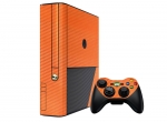 Microsoft Xbox 360 (3rd Gen) Skin :: 3D Carbon Orange