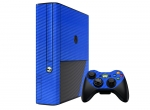 Microsoft Xbox 360 (3rd Gen) Skin :: 3D Carbon Candy Blue