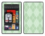 Amazon Kindle Fire Skin :: Argyle Green
