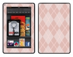 Amazon Kindle Fire Skin :: Argyle Red