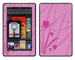 Amazon Kindle Fire Skin :: Floating Hearts