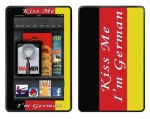 Amazon Kindle Fire Skin :: Kiss Me German