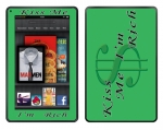 Amazon Kindle Fire Skin :: Kiss Me Rich