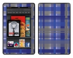 Amazon Kindle Fire Skin :: Oceans Deep Plaid