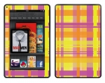 Amazon Kindle Fire Skin :: Sun Kissed Plaid