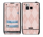 LG Dare Skin :: Argyle Red