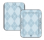 Barnes & Noble Nook Touch Skin :: Argyle Blue
