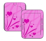 Barnes & Noble Nook Touch Skin :: Floating Hearts