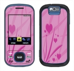 Samsung Exclaim Skin :: Floating Hearts