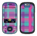 Samsung Exclaim Skin :: Candy Shop Plaid